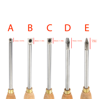 Alloy Steel Lathe Wood Turning Tool Carbide Insert Wrench Cutter Tools Square Shank With Wood Handle Woodworking Tool