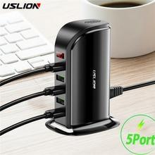 5 ports Multi USB chargeur HUB LED affichage USB Station de recharge Dock universel téléphone portable bureau mur maison chargeurs ue royaume uni prise