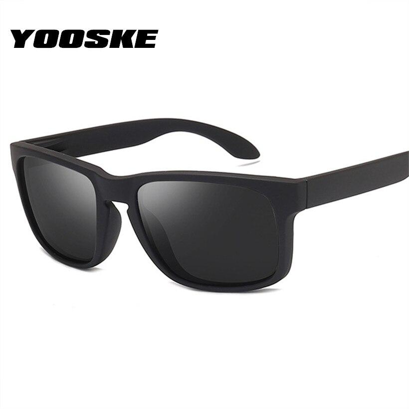 YOOSKE Retro Sunglasses Polarized Men Brand Designer Driving Sun Glasses Mens Rectangle Shades Sunglass Goggle Eyewear UV400