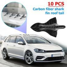 VODOOL 10 pz/lotto Car Styling Universale Shark Fin Kit Diffusore Spoiler Auto Auto Tetto Ala di Coda Vortex Generator Decor Adesivi
