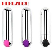 HEBUZHOU Mini AV Vibrating Egg Masturbation Vibrator Bullet Shape G-spot Massager Sex Toys For Women USB Rechargeable