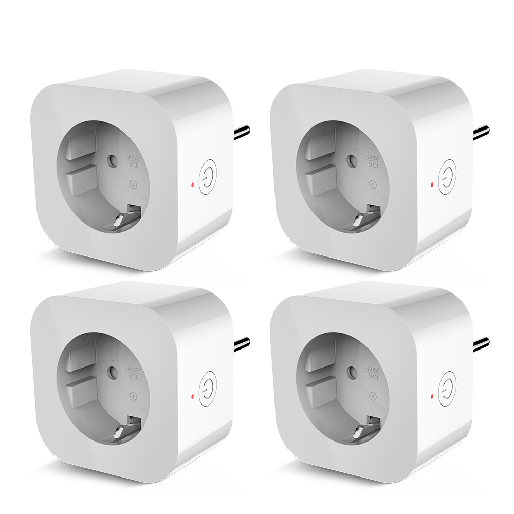 4PCS Elelight PE1004T Smart Sockets Remote Control Outlet With Timing Function Works With Google Home,Amazon Alexa Power Monitor