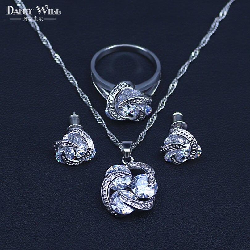 Natural Silver 925 Bridal...