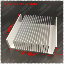 (Free shipping) 1 pcs 60x61x22.3MM Fan Heatsink Cooling Radiator Aluminum Heatsink Aluminum Profile Module все цены