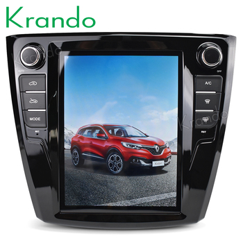"Krando Android 8.1 10.4"" Vertical screen car multimedia system GPS for Renault Kadjar navigation entertainment stereo audio BT"
