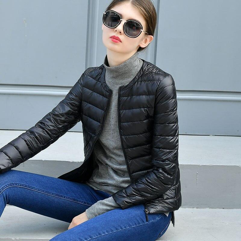 Women Winter Coat 2019 New Ultra Light White Duck Down Jacket Slim Women Winter Puffer Jacket Portable Windproof Down Coat PJ330