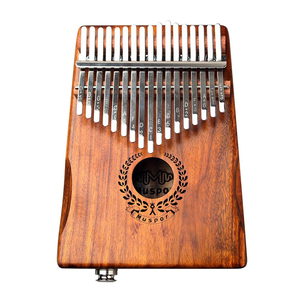 17 Keys EQ Kalimba Acacia Thumb Piano Link Speaker Electric Pickup With Bag Cable 17 Keys Solid Wood Kalimba Musical Instrument