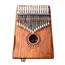 17 клавиш эквалайзер калимба Акация большой палец фортепиано ссылка динамик электрический датчик с сумкой кабель 17 ключей твердой древесины калимба музыкальный инструмент
