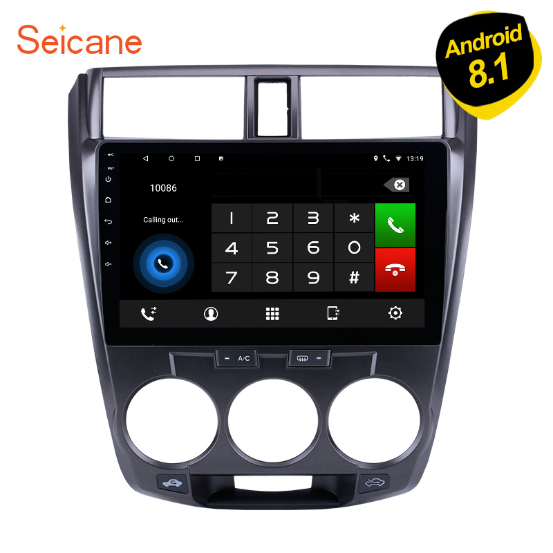 <font><b>Seicane</b></font> Android 8.1 10.1 inch Car Stereo Radio GPS Navigation Bluetooth Player 2.5D IPS 8-core for 2011 20122015 2016 <font><b>Honda</b></font> <font><b>CITY</b></font> image