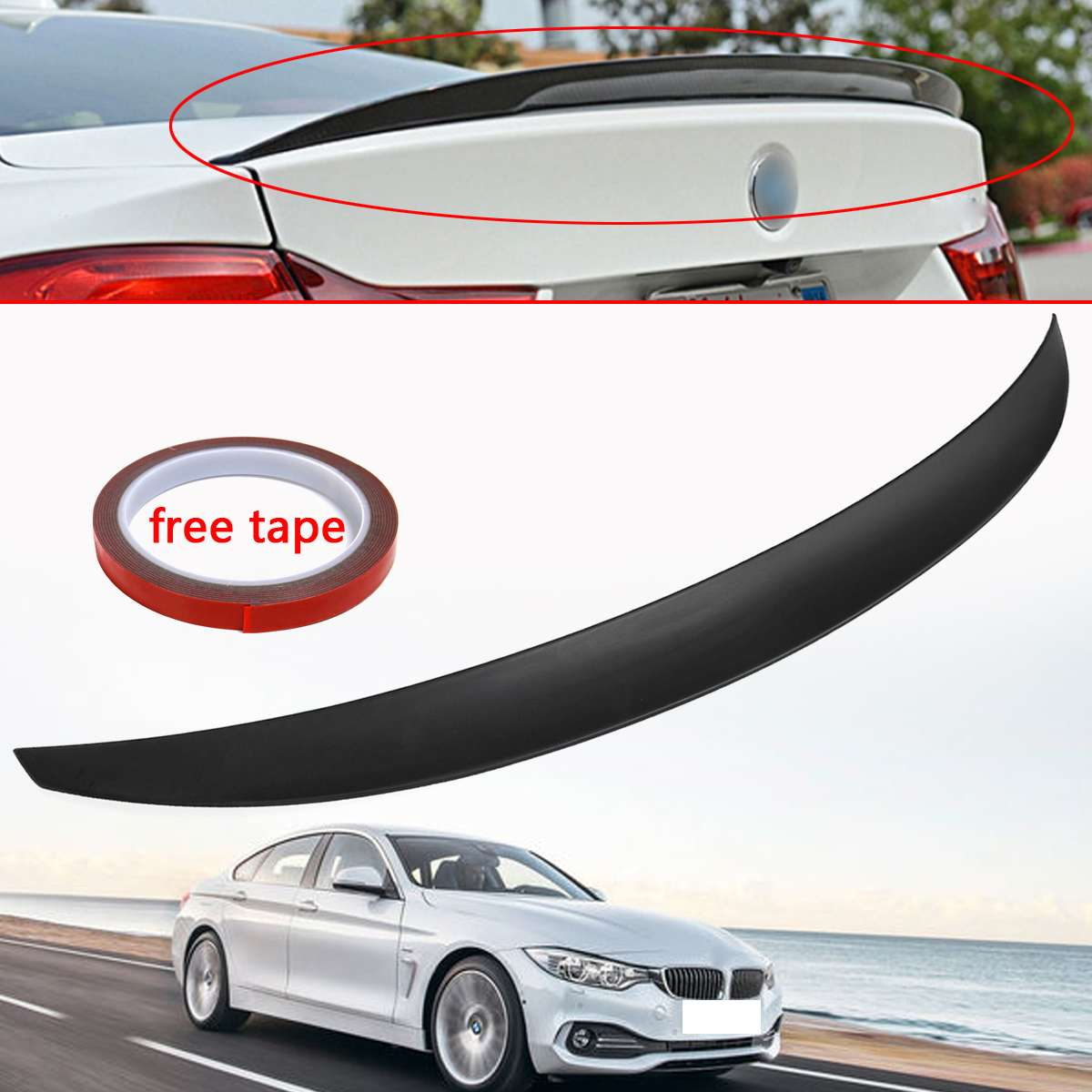 New Rear Trunk Spoiler Wing Performance Style for BMW 4-Series F36 4 Door Gran for Coupe 2014 2015 2016 - UP 420i 420d 428iNew Rear Trunk Spoiler Wing Performance Style for BMW 4-Series F36 4 Door Gran for Coupe 2014 2015 2016 - UP 420i 420d 428i