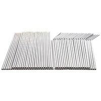 100 palhas de metal dos pces podem ser reutilizadas 304 tubos de água potável de aço inoxidável 215 mm x 6 mm canudos curvados e 50 canudos retos