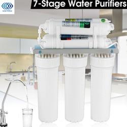 7-etapa de sistema de filtro de agua con grifo válvula tubería de agua potable sistema de ultrafiltración casa cocina purificador de agua filtros de agua