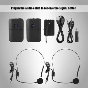 Image 5 - Microfone Sem Fio 2 Kênh Di Động Không Dây Chống Hú UHF Mic Gắn Đầu Micro Thu Phát Di Động