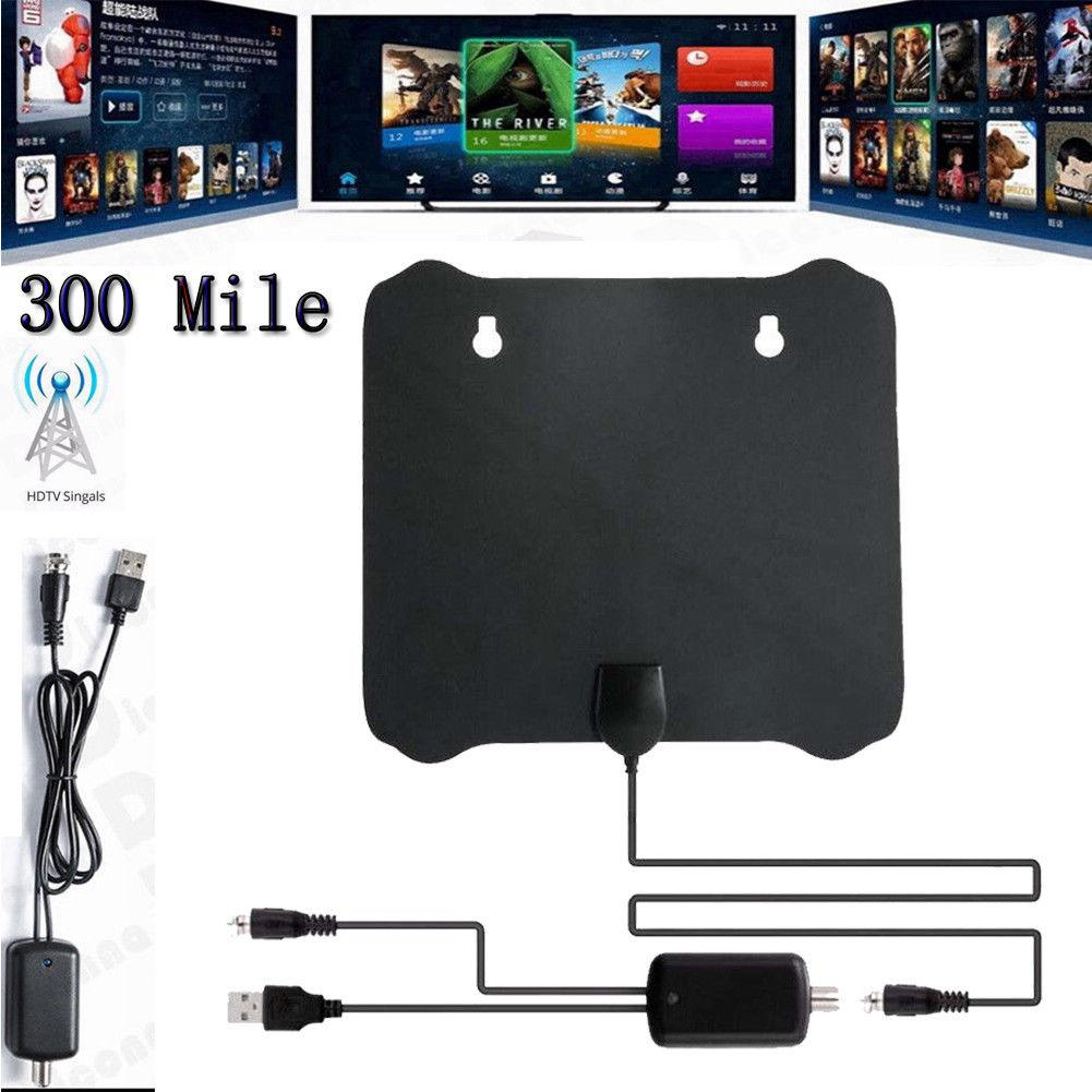 LumiParty 300 Mile Range Antenna TV Digital HD Skywire 4K Antena HDTV 1080p with Amplifier r5