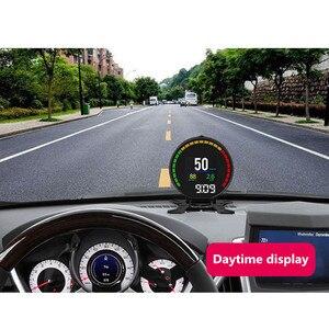 Image 3 - P15 Hd Tft Obd Digitale Snelheid Hud Display Snelheidsmeter OBD2 Turbo Boost Druk Meter Alarm Olie Water Temp Gauge Code reader