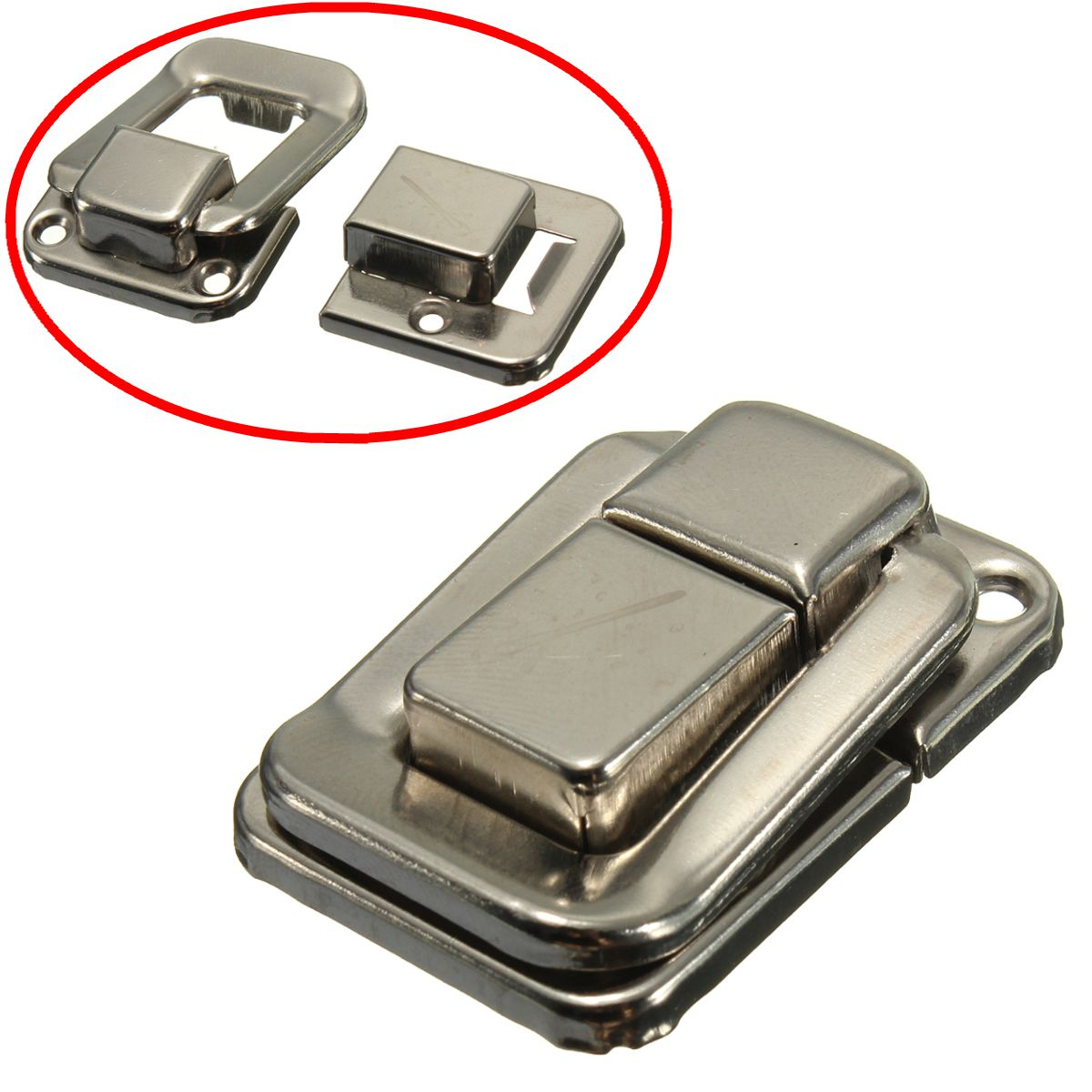 4x enganche de cierre de palanca de cierre de 37mm x 25mm para cajas de maleta