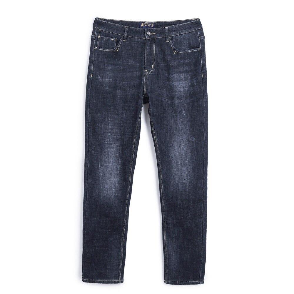 Pioneer Camp Winter Thick Jeans Men Brand Clothing Warm Fleece Inside Denim Pants Male