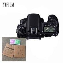 2 шт. ЖК-дисплей Панель Защитная пленка для экрана, защита для цифровой однообъективной зеркальной камеры Canon EOS R 77D 9000D 70D 80D 6D 5D III Характеристическая вязкость полимера 5DS 6D Mark II 7D Mark II 760D 8000D