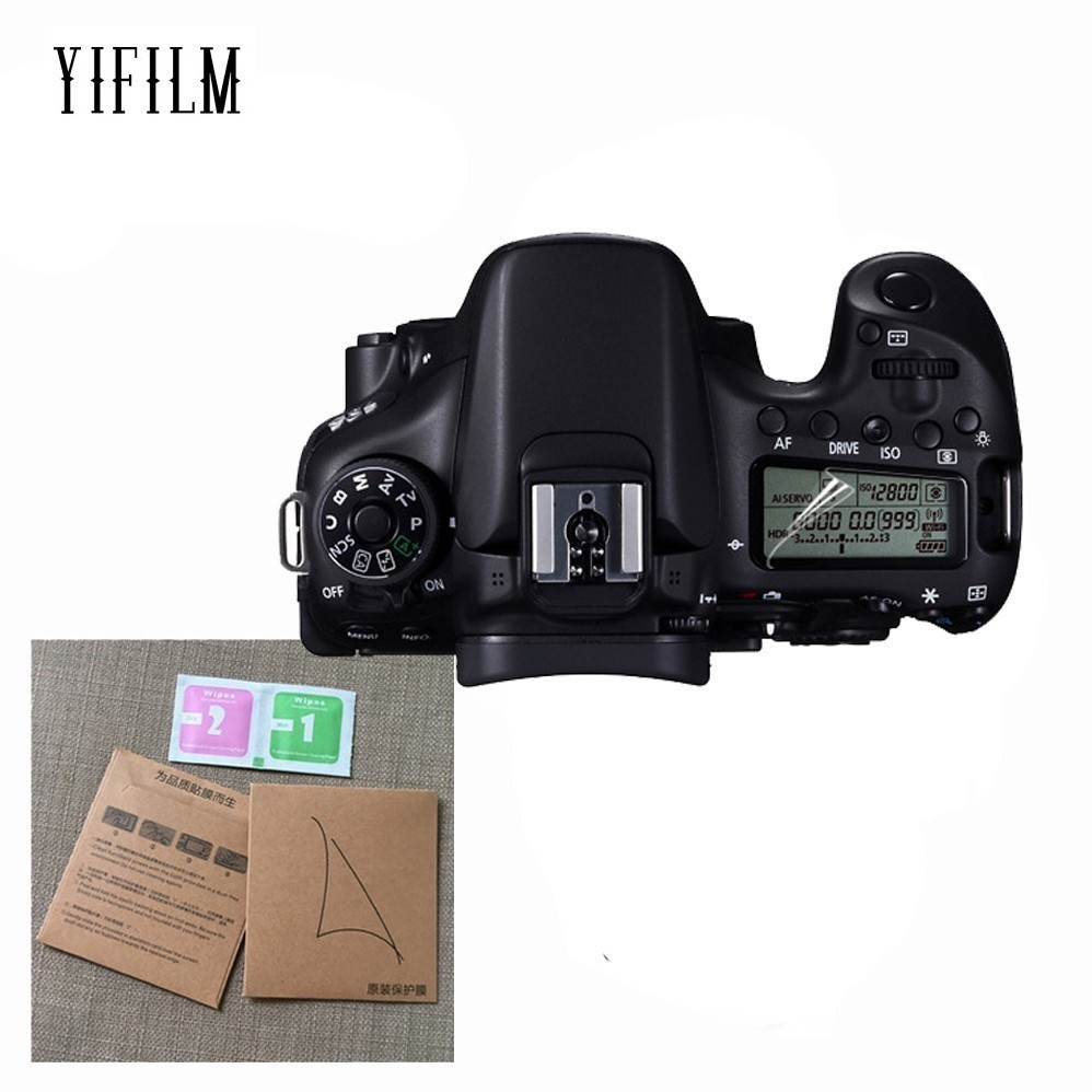 2PCS LCD Panel Protection Screen Protector for Canon EOS R 77D 9000D 70D 80D 6D 5D III IV 5DS 6D Mark II 7D Mark II 760D 8000D-in Camera LCD Screen from Consumer Electronics