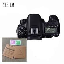 цена на 2PCS LCD Panel Protection Screen Protector for Canon EOS R 77D 9000D 70D 80D 6D 5D III IV 5DS 6D Mark II 7D Mark II 760D 8000D