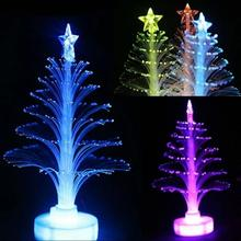 New Xmas LED Light Christmas Tree Colorful Optical Fiber Holiday Decor Color Changing Lamp Home Decoration Children Gift #1024