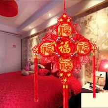 Blessings Chinese Knot Knoting Hand-knitted Pure Handwork Housewarming Wedding Festival Supplies