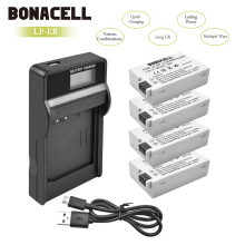 Bonacell LP-E8 LP E8 LPE8 Camera Battery+LCD Charger For Canon EOS 550D 600D 650D 700D Kiss X4 X5 X6i X7i Rebel T2i T3i T4i L10 2 pieces li ion battery charger lp e8 lp e8 rechargeable camera battery for canon 550d 600d 650d 700d ld456