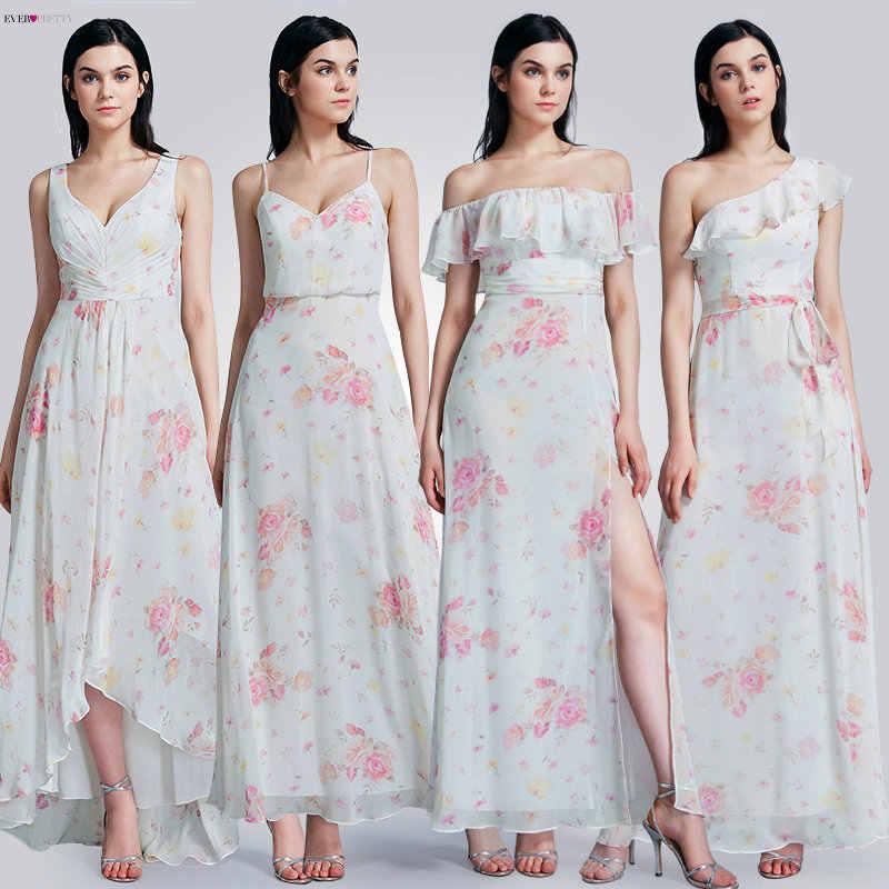 Длинные платья Ever Pretty для выпускного, 2020 Ever Pretty EP07381, сексуальное шифоновое платье А-силуэта с цветочным принтом без рукавов, дешевые платья для свадебной вечеринки