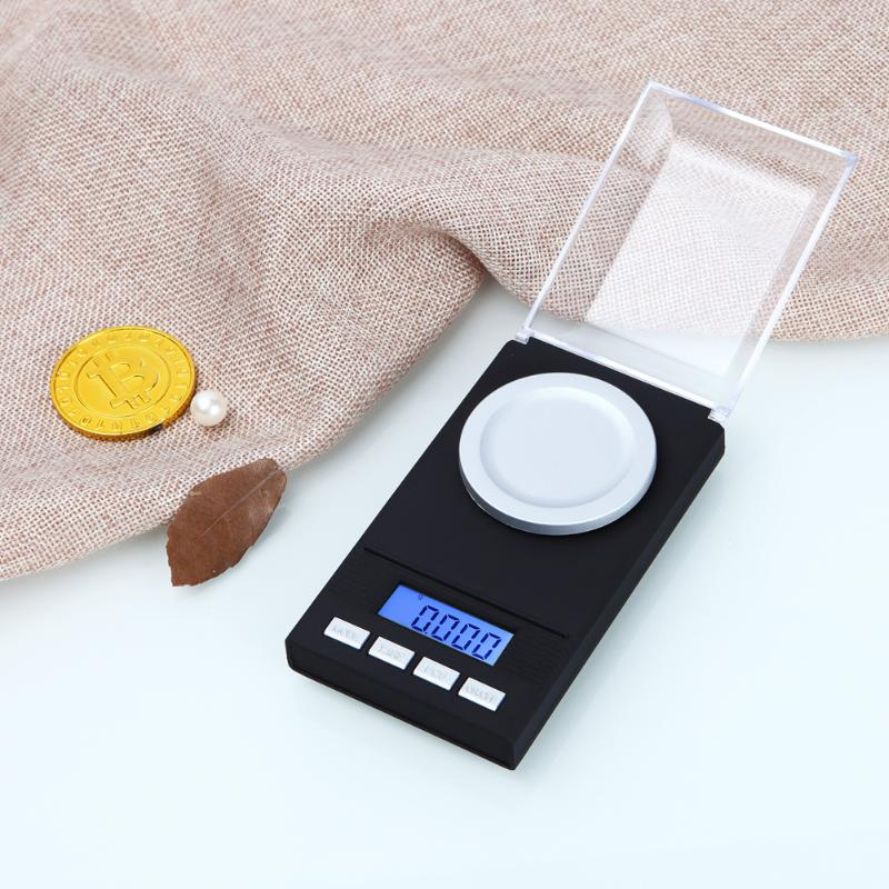 Portable Mini 50g/0.001g 20g/0.001g Digital Scale LCD Electronic Capacity Balance Diamond Jewelry High Precision Pocket Scale
