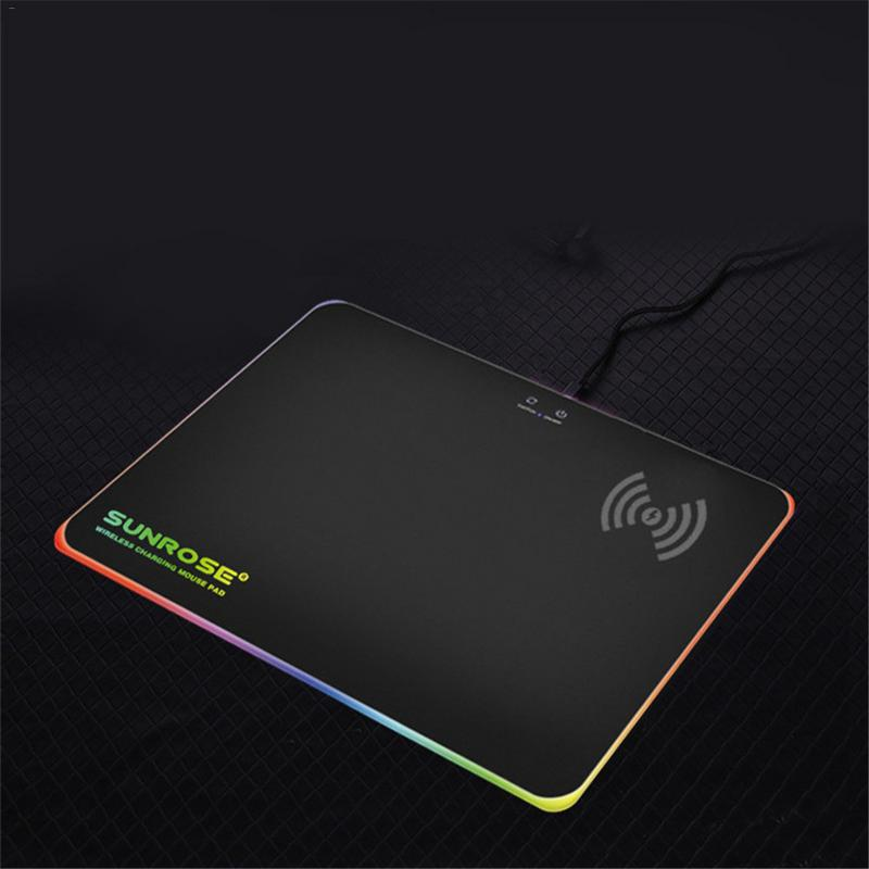 Creative Wireless Veloce Caricatore Zerbino RGB Retroilluminato Mousepad Illuminazione A LED Zerbino Per Il Calcolatore Del PC Del Computer Portatile Del DesktopCreative Wireless Veloce Caricatore Zerbino RGB Retroilluminato Mousepad Illuminazione A LED Zerbino Per Il Calcolatore Del PC Del Computer Portatile Del Desktop