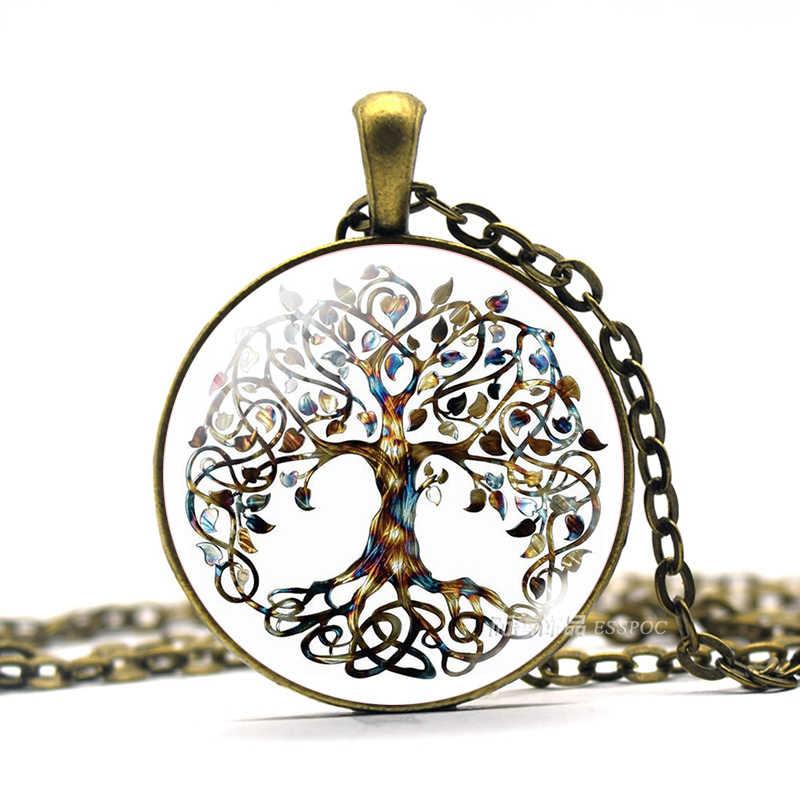 Life Tree Art Photo Glass Cabochon สร้อยคอจี้ Vintage Choker สร้อยคอผู้หญิงเครื่องประดับแห่งชีวิต