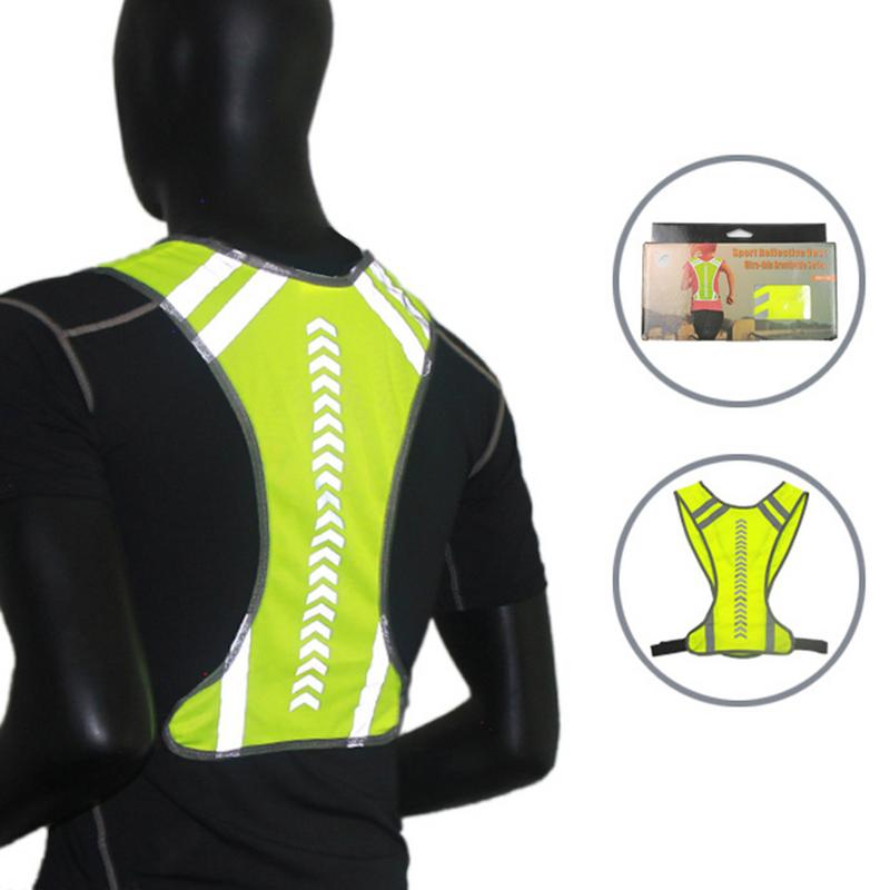 Reflective Outdoor Cycling Safety Protective Vest Bike Bicycle Harness Night Running Jogging Vest Men Women