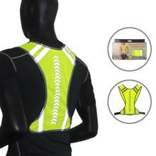Светоотражающий защитный жилет для езды на велосипеде на открытом воздухе, велосипедный жилет для бега и бега, жилет для мужчин и женщин