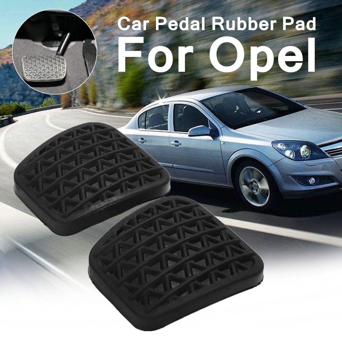 2 X Rubber Black Pad Perfect Match 6x6.5x1cm Fit For Opel Stable Characteristics High Reliability Easy Installation