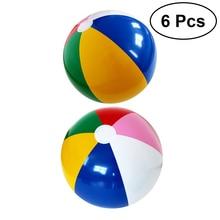 6 шт радужных цветов вечерние надувные пляжные мячи милые мячи для вечеринок Пляж Бассейн