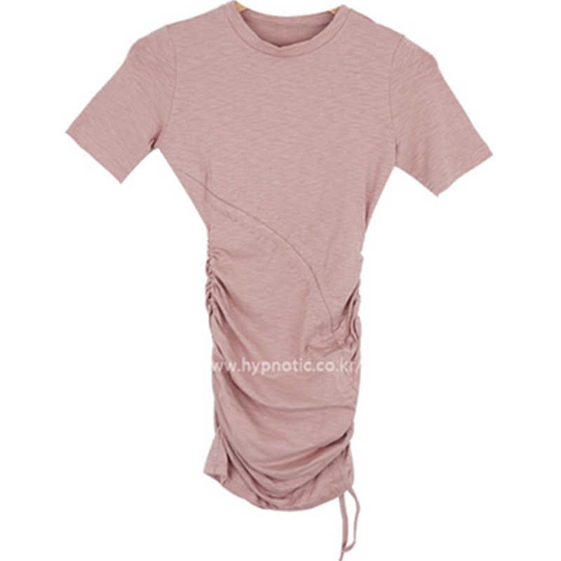 미니 스커트 핑크 블랙 기본 코튼 t 셔츠 드레스 여성 스키니 피팅 섹시한 streetwear bodycon 슬림 짧은 미니 드레스 vestidos
