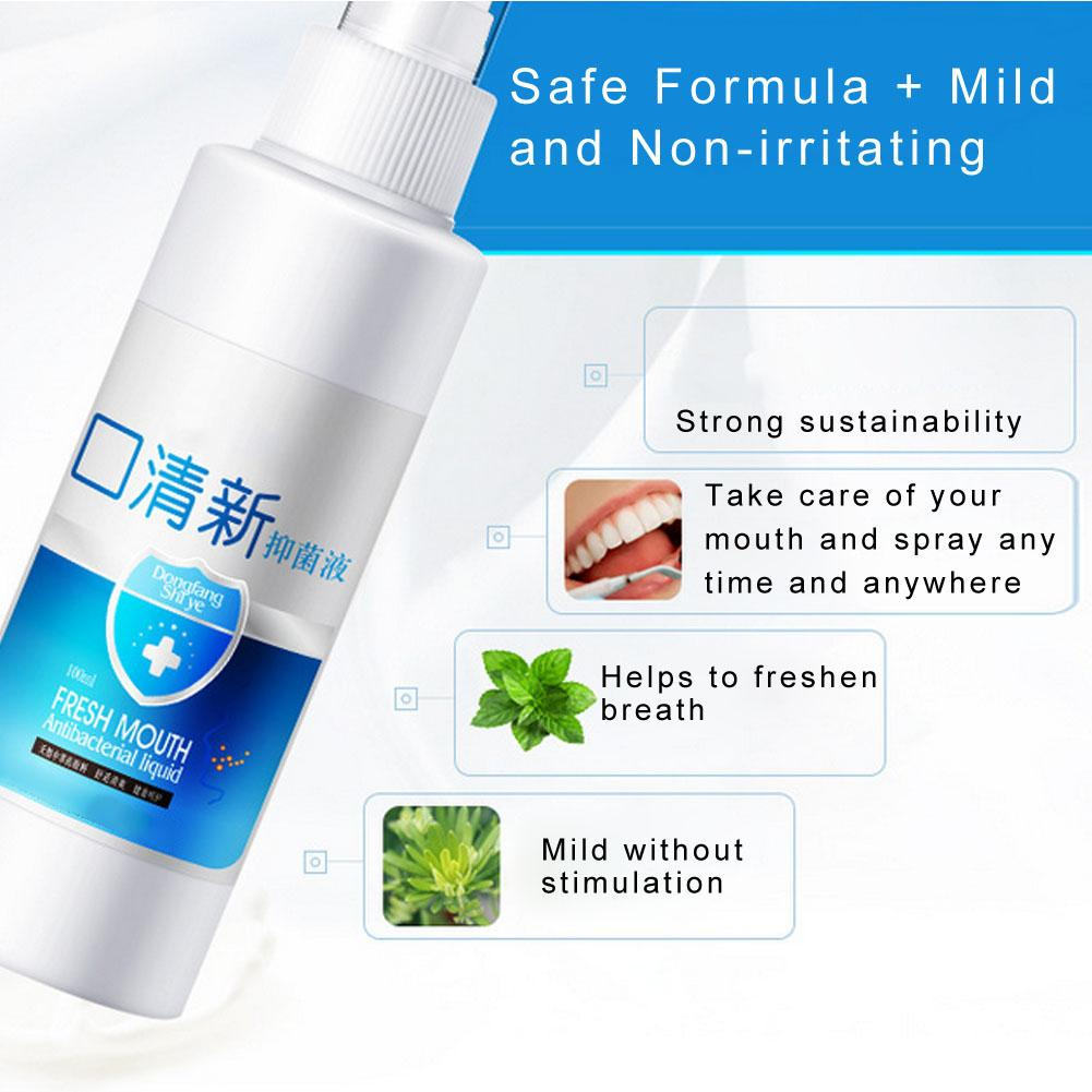 100ml Breath Freshener Spray Oral Odor Halitosis Treatment Spray Refresher Oral Care Spray