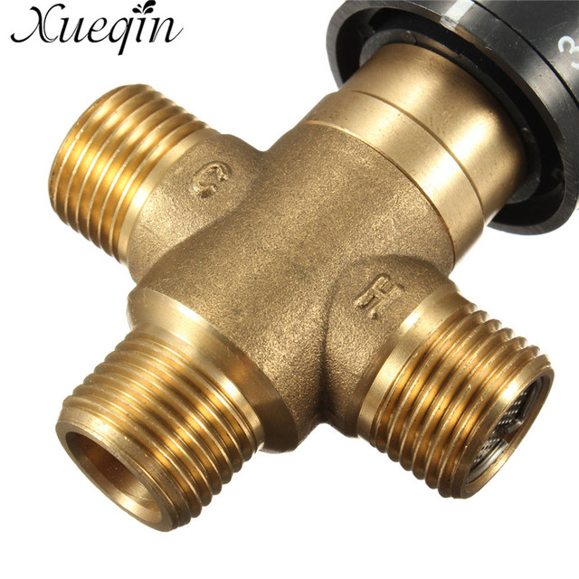 Xueqin 1PC Brass Pipe Thermostat Faucet Thermostatic Mixing Valve Bathroom Water Temperature Control Faucet Cartridges