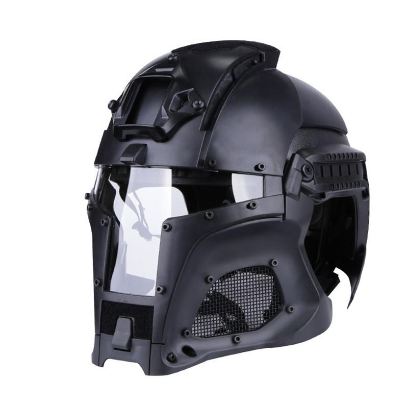Medieval Iron Warrior Helmet Tactical Outdoor Retro Helmet Solid Color Edition