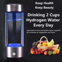 450ML Hydrogens Rich Water Bottle Cup Hydrogens Generator Water Maker Rechargeable Portable pure H2 hydrogens rich water bottle