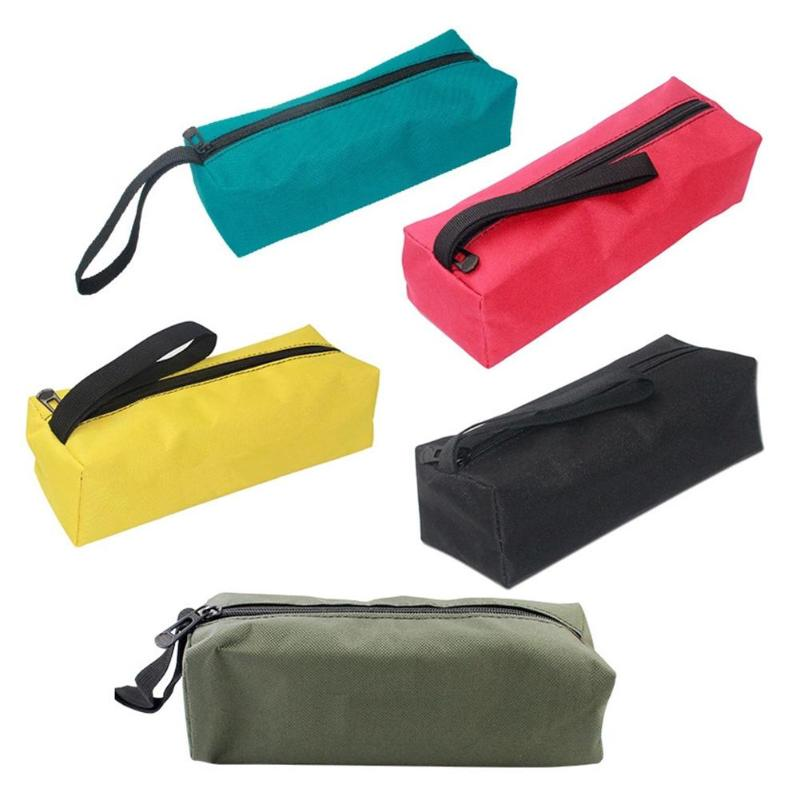 Large Waterproof Storage Hand Tool Bag Oxford Canvas Screws Nails Drill Bit Metal Parts Fishing Travel Pouch Bag Case