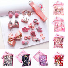 18Pcs/Lot Mixed Kids Girls Cartoon Styles Headwear Hair Bands Princess Toddler Baby Girl Pin Clips Jewelry Accessories