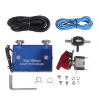 VODOOL Adjustable Dual Stage Electronic Turbocharger PSI Boost Controller Kit With Switch Blue Auto Car Turbo System Accessories