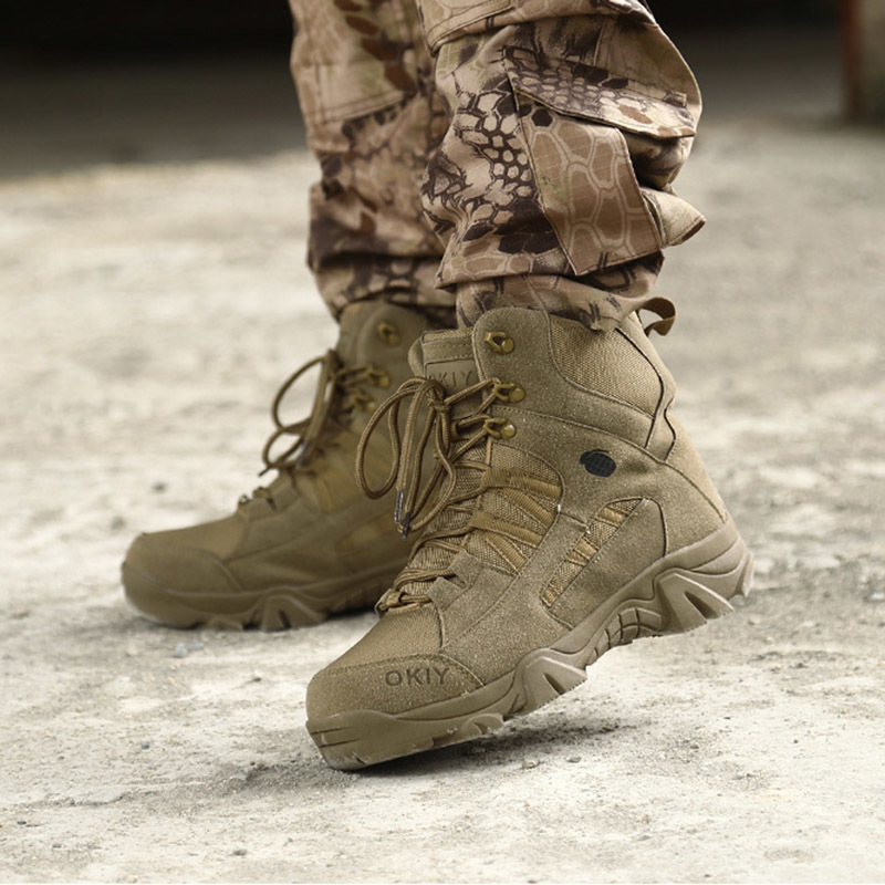 2c500cd1374 US $41.71 30% OFF|Military Tactical Boots Waterproof Hiking Combat Boots  Army Side Zip Work Safety Steel Toe Boots HH 239 on Aliexpress.com |  Alibaba ...