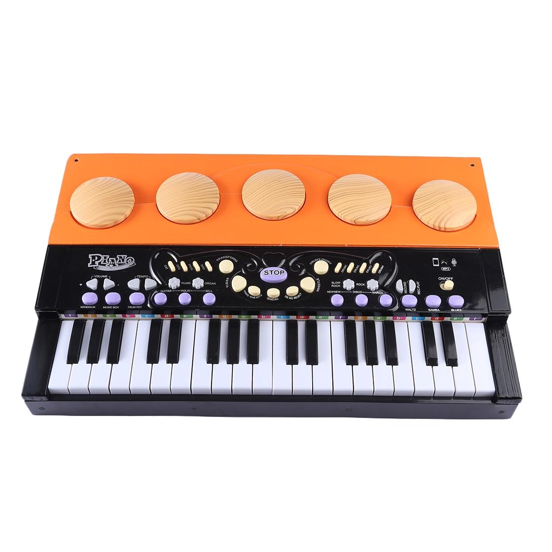 37 clés Mini Piano Vertical en bois Grand Instrument de musique pour enfants jouet éducatif de musique précoce-noir