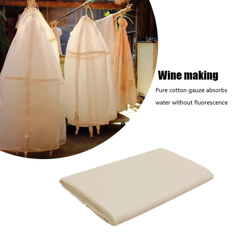 Cheese Cloth 40s Natural Ultra Fine Cotton Filter Gauze Cheese Cloth For Kitchen Cleaning Car Dusting Perfume Bag Wine Making image