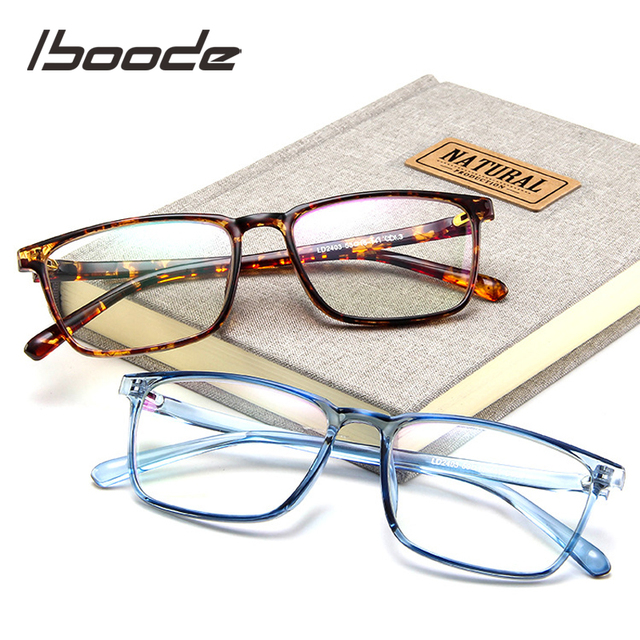 iboode Fashion Square Spectacle Optical Glasses Frame Women Myopia Glasses Men EyeGlasses Frame Nerd Optical Frames Clear
