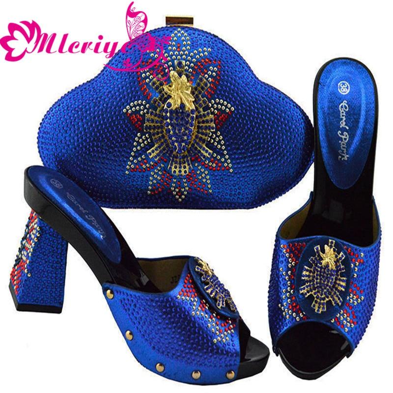 Mariage Avec Strass Fête Arrivée Pour Sacs Italiennes La De Sac Jsz04 Décoré Nigérian Chaussures Ensemble purple Et Nouvelle 1w0OBq