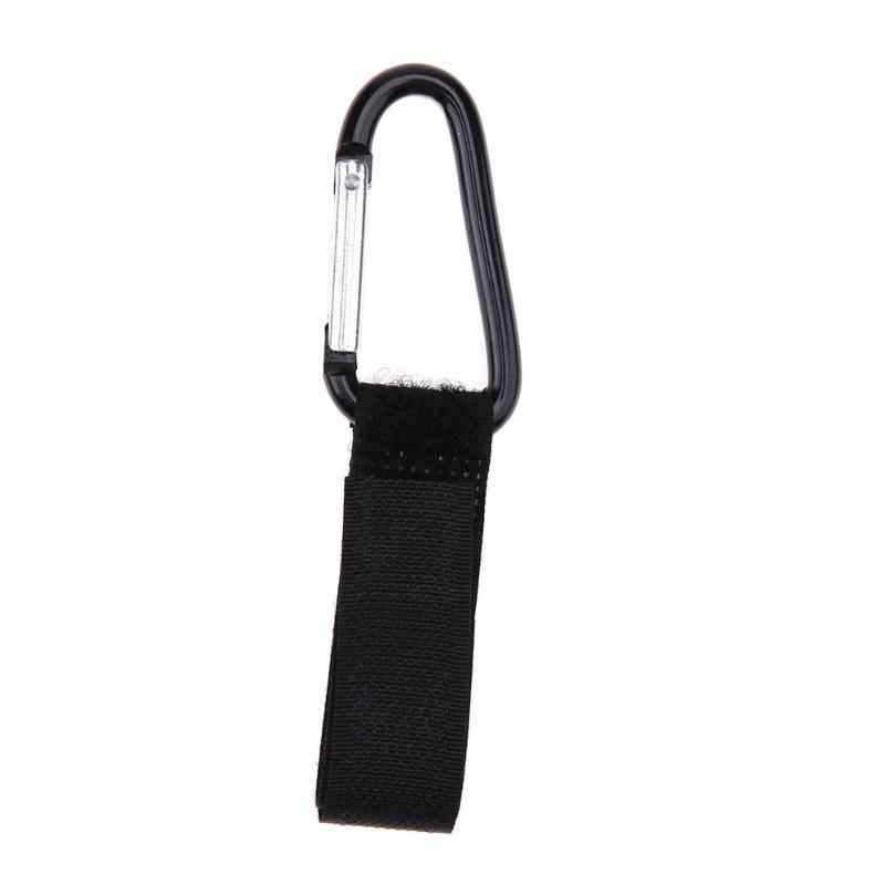 กระเป๋าคลิปรถเข็นเด็กอุปกรณ์เสริมตะขอรถเข็นเด็กทารกสีดำคุณภาพสูงตะขอพลาสติกสำหรับที่มีประโยชน์ Props Universal
