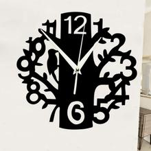 Acrylic Bird Numbers Mirror Wall Clocks Modern Design Home Decoration